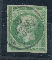 FRANCE - 1853/60, Napoleon III, Yt 12, 5c, Oblitére - 1853-1860 Napoléon III