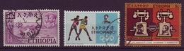 ETHIOPIA 1952/1971 LOT OF 3 USED STAMPS - Ethiopia