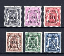 PRE345/350 MNH** 1939 - Klein Staatswapen I Opdruk Type A - REEKS 3 - Typo Precancels 1936-51 (Small Seal Of The State)