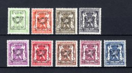 PRE446/454 MNH** 1940 - Klein Staatswapen Opdruk Type D - REEKS 19 - Typo Precancels 1936-51 (Small Seal Of The State)