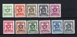 PRE464/474 MNH** 1941 - Klein Staatswapen Opdruk Type D - REEKS 21 - Typo Precancels 1936-51 (Small Seal Of The State)