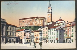 Pirano (1914) - Piazza Tartini - Slowenien