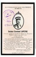 Généalogie   Faire-part De Décés   Carte Mortuaire Docteur Constant Lapeyre Montpellier Tampon Allemand - Overlijden