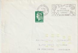 """Env. De """"Villiers-sur-Marne - 94, Val-de-Marne"""" Du 25-10-1972, """"25 Ans De Philatélie APHIVIL"""" (YT 1611) - Annullamenti Meccanici (pubblicitari)"""