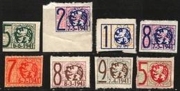 1941 1942 Belgique Belgium - LABEL / CINDERELLA / VIGNETTE Tax Member Stamp - Coat Of Arms / Lion - Steuermarken