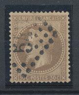 FRANCE - 1863/70, Napoleon III With Laurels, Yt 30, 30c, Oblitére - 1863-1870 Napoléon III Lauré