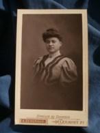 Photo CDV A. Gendraud à Clermont Ferrand - Portrait Nuage Femme Au Chignon, Vers 1895-1900 L485 - Fotos