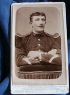 Photo CDV Victor Franck à Saint Dié - Militaire Sergent Du 10e Chasseurs à Pied, Vers 1895 L485 - Fotos