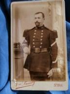 Photo CDV Vve Baudy à St Dié - Militaire Sergent Fourrier Du 10e Chasseurs à Pied, Vers 1890 L485 - Oud (voor 1900)