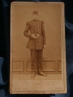 Photo CDV Lorans à Nevers - Militaire En Pied Soldat Du 56e D'infanterie, Datée 1873 L485 - Fotos