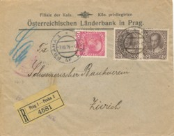 Autriche – L Rec Prague 2 VIII 16 Vers Zurich 6 VIII 16 – Cen-sure Feldkirch - Briefe U. Dokumente