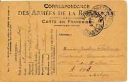 Trésor Et Postes 178 – Camp D'Avord 31.10.15 Vers Armée Belge PMB 5 XI 15 – école De Pilotage - Oorlog 14-18