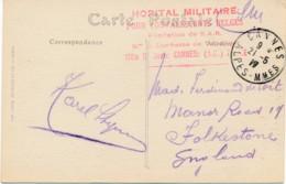 CV Cannes 21-5 17 - Exp. Hôpital Militaire Pour Convalescents Belges – Fondation S.A.R. – Villa St Jean - Oorlog 14-18