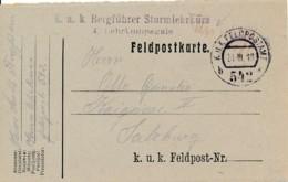 KuK Feldpostamt 542 – Bergführer Sturmlehrkurs 4 Lehrkom-pagnie - 1850-1918 Keizerrijk