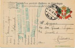 Carte à Drapeaux – Italie – 5° Reggimento Alpini Drappello Valmalenco - Censure - 1900-44 Victor Emmanuel III