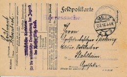 Feldpostkarte Metz 2.3.18 – Militar Kreislater .. Militare Vorbe-reitung De Jugend Des Kreises Metz Land - Elzas-Lotharingen
