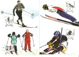 Norway 2008 100 Years Of The Norwegian Ski Association.  Mi 1640-1643 In Maximum Cards - Norwegen
