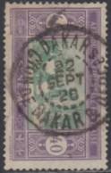 Sénégal 1912-1944 - Dakar / Con De Dakar & Depces Sur N° 63 (YT) N° 63 (AM). Oblitération De 1926. - Oblitérés