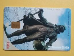 T10- TELECARD SERBIA, CHIP TELECOM, Monument Dositej Obradovic - Joegoslavië