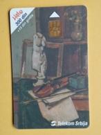 T10 - TELECARD SERBIA, CHIP TELECOM - MODERN ART PAINTING, MUSEUM, MUSEE BELGRADE - Joegoslavië