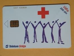 T10 - TELECARD SERBIA, CHIP TELECOM - RED CROSS - Joegoslavië