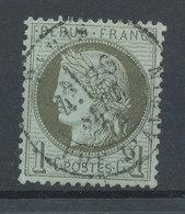 FRANCE - 1871/75, Ceres, Yt 50, 1c, Oblitére - 1871-1875 Cérès