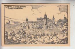 L 1000 LUXEMBURG Stadt, Cote Du Grund, Castel Lutzelbourg, Künstler-Karte - Luxemburg - Stadt