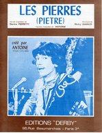 PARTITION FRANCO ITALIENNE LES PIERRES (PIETRE) PAR ANTOINE - 1967 - EXC ETAT COMME NEUF - - Music & Instruments