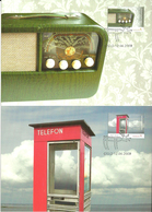 Norway 2009 Cultural Monument Year, Kruer Redio, Telephone Bos.  Mi 1691-1692 In Maximum Cards - Norwegen