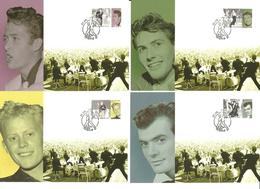Norway 2009 Norwegian Popular Music (I): Pioneers Of Rock.  Mi 1694-1697 In Maximum Cards - Norwegen