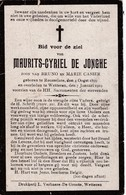Roeselare, Wetteren, 1919, Mauritrs De Jonghe, Casier - Andachtsbilder