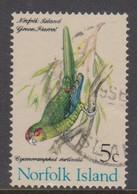 Norfolk Island ASC 110 1970 Birds,10c Green Parrot, Used - Parrots
