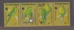 Norfolk Island ASC 414-417 1987 Green Parrots, Mint Never Hinged - Parrots