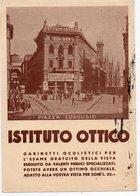 MILANO - ISTITUTO OTTICO - PIAZZA CORDUSIO - VIAGGIATA - Advertising