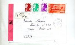 Lettre Recommandée Roost Sur Hydravion Gandon - Postmark Collection (Covers)
