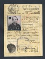 ANCIENNE CARTE D IDENTITÉ Mme LESOUDS MARGUERITE NÉ À LOUVRES SEINE & OISE À PARIS 1941 : - Mappe