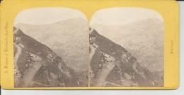 Photo Stéréo: SUISSE Le Mont RIGI Panorama à La SCHEIDECK - Stereoscopio