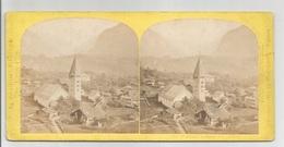 Photo Stéréo  :  SUISSE Panorama De MEYRINGEN  Photographe W. England - Stereoscopic