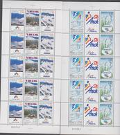 ANDORRE FRANCAIS 2 Feuilles De 5 Triptyques Neufs Xx N° YT 426A - 429 A - 1993 - Stations De Ski - Nuevos