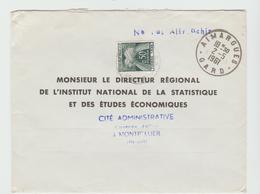 Gard  AIMARGUES : CàD Type A7 /  LSC Taxée De 1961 - Storia Postale