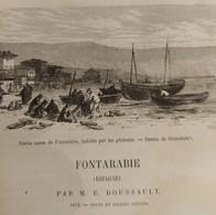 TOUR DU MONDE CHARTON 1875 GRAVURES ENGRAVINGS. FONTARABIE FONTARRABIE HONDARRIBIA FUENTERRABIA BASQUE ESPAGNE SPAIN - Livres, BD, Revues