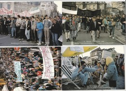4 CPM:DÉCEMBRE 1986 MANIFESTATION ÉTUDIANTES CONTRE PROJET LOI DEVAQUET APRÈS MORT ÉTUDIANT À PARIS TROYES (10) - Troyes