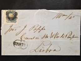 Portugal, Circulated Cover From Porto To Lisbon, 1858 - Portugal