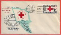 NOUVELLES HEBRIDES FDC DE 1963 DE VILA CROIX ROUGE - FDC