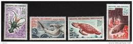 Comores N° 35 / 38  XX   Faune Marine , La Série Des 4 Valeurs Sans Charnière, TB - Unused Stamps