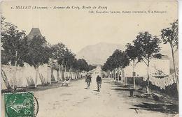 12, Aveyron, MILLAU, Avenue Du Crez, Route De Rodez, Scan Recto Verso - Millau