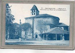 CPA - SAINT-JEAN-de-COLE (24) - Aspect Du Monument Aux Morts, Du Marché Couvert Et De L'Eglise - 1930 - France
