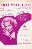 PARTITION HOT VOO-DOO  PAR MARLENE DIETRICH - 1932 - EXC ETAT COMME NEUF - - Compositeurs De Musique De Film