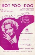 PARTITION HOT VOO-DOO  PAR MARLENE DIETRICH - 1932 - EXC ETAT COMME NEUF - - Compositori Di Musica Di Cinema