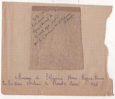 """MILITARIA WW1 - """" TOILE D'AVION BOCHE TOMBE A LYONS ( Lihons ) SOMME LE 25 AVRIL 1916 CAPTURE PAR LE S/LIEUTENANT 38e I. - 1914-18"""